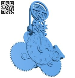 Select a clock 's detailed set B005931 download free stl files 3d model for 3d printer and CNC carving