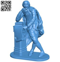 Shakespeare man B005859 download free stl files 3d model for 3d printer and CNC carving