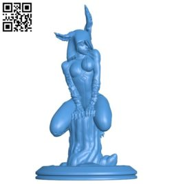 Silvestrismoker woman B006260 download free stl files 3d model for 3d printer and CNC carving