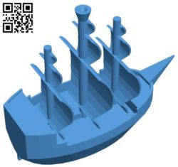 Simple ship B006261 download free stl files 3d model for 3d printer and CNC carving