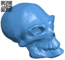 Skull B005824 download free stl files 3d model for 3d printer and CNC carving