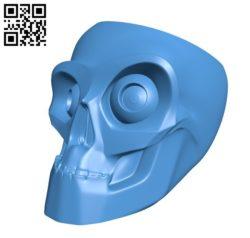 Skull bowl B006180 download free stl files 3d model for 3d printer and CNC carving