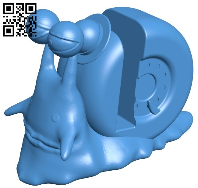 Snail phone stand B006275 download free stl files 3d model for 3d printer and CNC carving