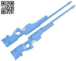Sniper rifles – gun A004194 download free stl files 3d model for CNC wood carving