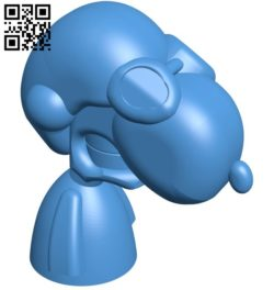 Snoop dog flying ace B005832 download free stl files 3d model for 3d printer and CNC carving