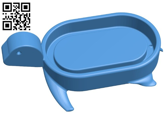 Soap-dish turtle B006144 download free stl files 3d model for 3d printer and CNC carving