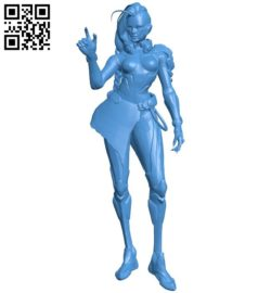 Sombra women B006010 download free stl files 3d model for 3d printer and CNC carving
