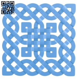 Square pattern A004261 download free stl files 3d model for CNC wood carving