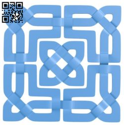 Square pattern A004266 download free stl files 3d model for CNC wood carving