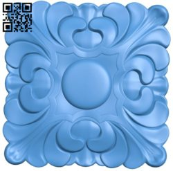 Square pattern decor A004394 download free stl files 3d model for CNC wood carving