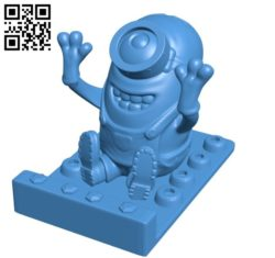 Stand minion B006262 download free stl files 3d model for 3d printer and CNC carving