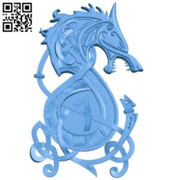 Symbolic pattern of the wolf A004277 download free stl files 3d model for CNC wood carving