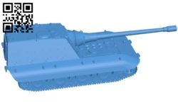 Tank Jagdpanzer E100 B006132 download free stl files 3d model for 3d printer and CNC carving