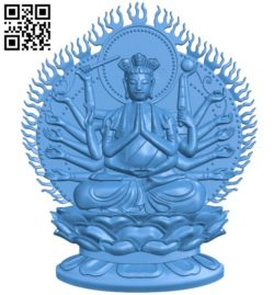 The Buddha has a thousand arms – thousand eyes A004250 download free stl files 3d model for CNC wood carving