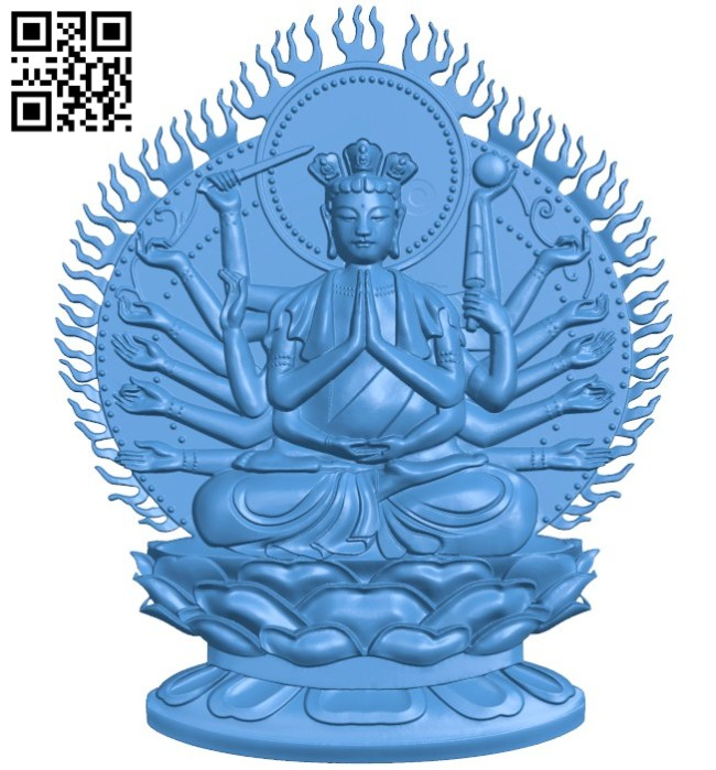 The Buddha has a thousand arms - thousand eyes A004250 download free stl files 3d model for CNC wood carving