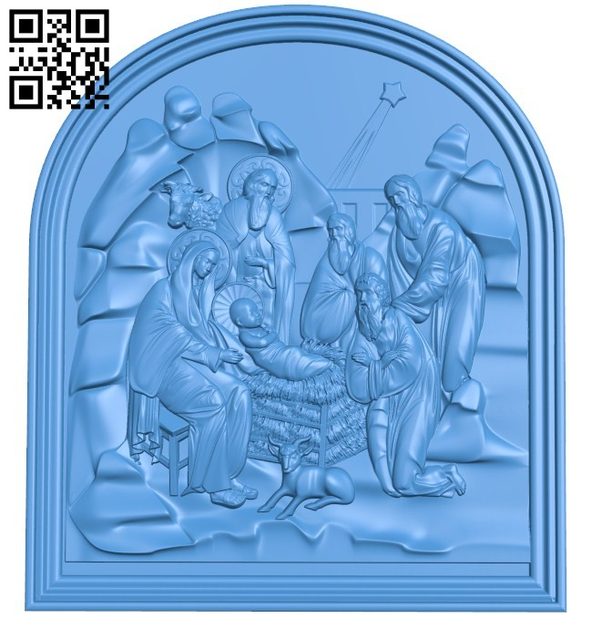 The day Jesus was born A004221 download free stl files 3d model for CNC wood carving