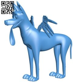 The dog has wings B005894 download free stl files 3d model for 3d printer and CNC carving