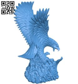 The eagle catches the snake B006055 download free stl files 3d model for 3d printer and CNC carving