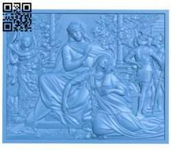 The garden picture of the lord A004223 download free stl files 3d model for CNC wood carving