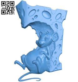 The mouse and cheese A004209 download free stl files 3d model for CNC wood carving