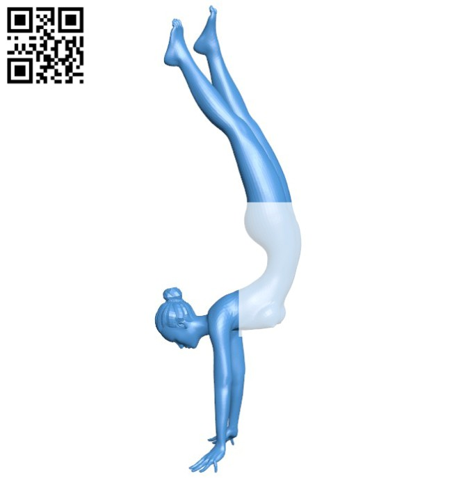 The woman practices GYM B005841 download free stl files 3d model for 3d printer and CNC carving