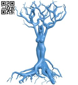 Tree woman B006078 download free stl files 3d model for 3d printer and CNC carving