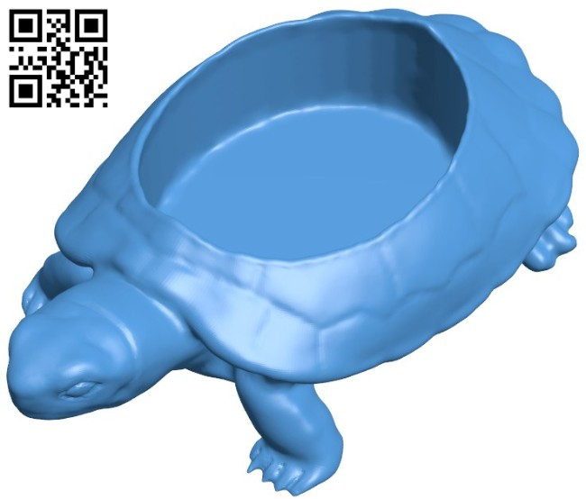 Turtle planter B005970 download free stl files 3d model for 3d printer and CNC carving