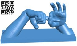 Two hands B006150 download free stl files 3d model for 3d printer and CNC carving