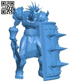 Undead Male Warrior B006165 download free stl files 3d model for 3d printer and CNC carving