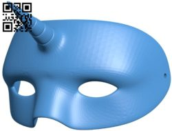 Unicorn Mask B006271 download free stl files 3d model for 3d printer and CNC carving