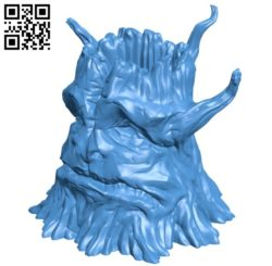 Vase – stump B006095 download free stl files 3d model for 3d printer and CNC carving
