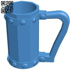 Viking mug holder B006014 download free stl files 3d model for 3d printer and CNC carving