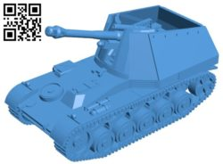 Wespe tank B006267 download free stl files 3d model for 3d printer and CNC carving