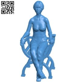 Women sitting on chair B005828 download free stl files 3d model for 3d printer and CNC carving