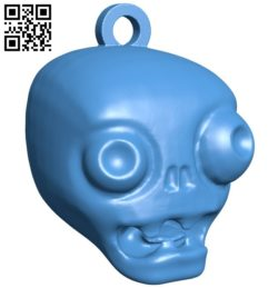 Zombie head B005827 download free stl files 3d model for 3d printer and CNC carving