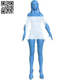 female experiment B005809 download free stl files 3d model for 3d printer and CNC carving