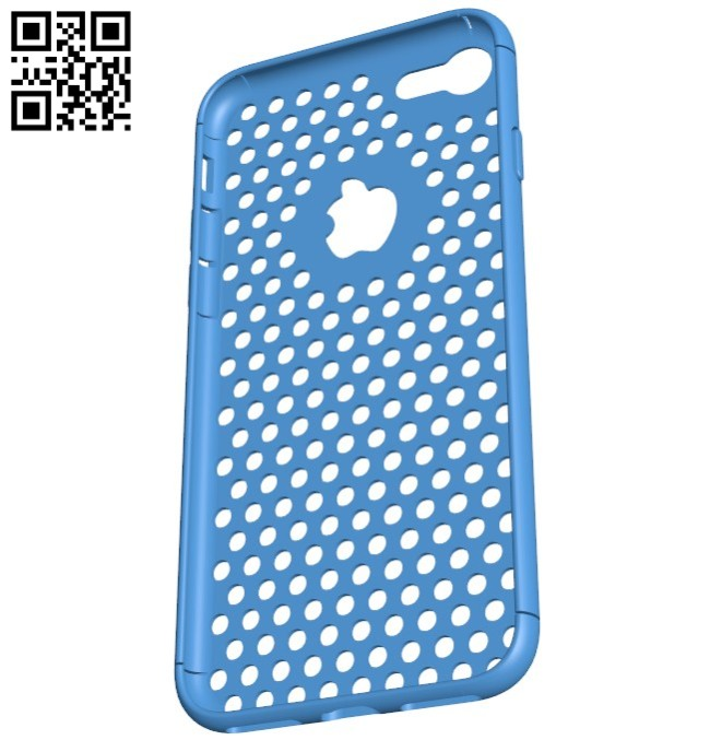 iPhone 7 Case Dots V3 B005935 download free stl files 3d model for 3d printer and CNC carving