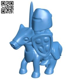 Knight riding B006069 download free stl files 3d model for 3d printer and CNC carving
