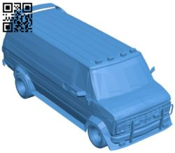A-Team Van – car B006359 file stl free download 3D Model for CNC and 3d printer