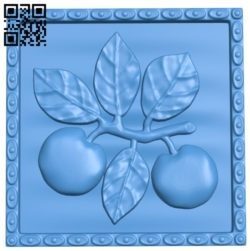 Apple painting A004556 download free stl files 3d model for CNC wood carving