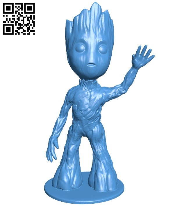 Baby groot standing B006383 file stl free download 3D Model for CNC and 3d printer