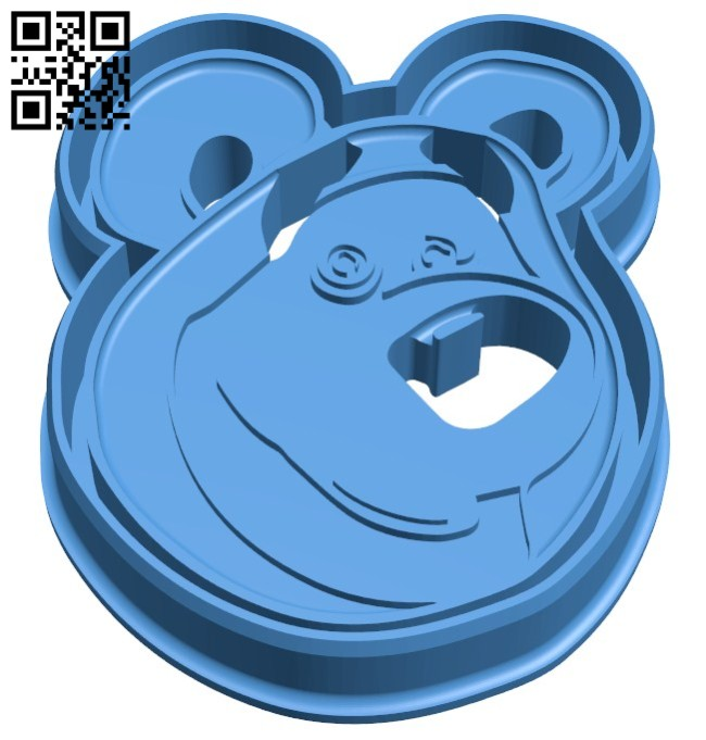 Bear cookie B006433 file stl free download 3D Model for CNC and 3d printer