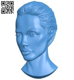 Beautiful actress head A004518 download free stl files 3d model for CNC wood carving
