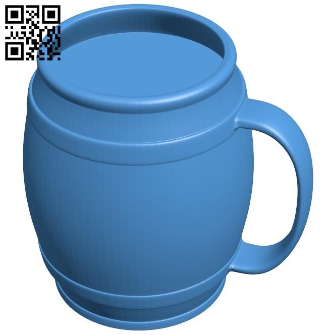 Beer mug B006427 file stl free download 3D Model for CNC and 3d printer