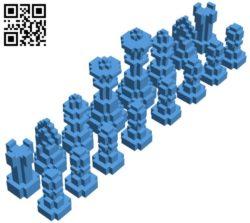 Bit Chess set B006423 file stl free download 3D Model for CNC and 3d printer