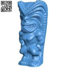 Brady Tiki B006323 download free stl files 3d model for 3d printer and CNC carving