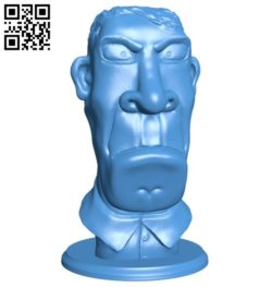 Bust man B006371 file stl free download 3D Model for CNC and 3d printer