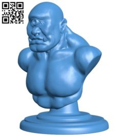 Bust of a one-eyed giant B006584 file stl free download 3D Model for CNC and 3d printer