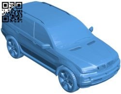 Car BMW X5 (E53) B006387 file stl free download 3D Model for CNC and 3d printer