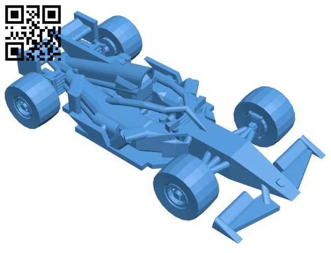 Car F1 halo B006436 file stl free download 3D Model for CNC and 3d printer